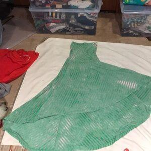 green and grey summer dress